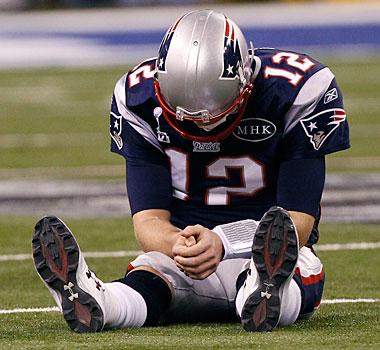Tom Brady reacts via Yahoo Sports